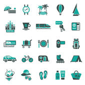 Signs. Vacation, Travel & Recreation. Second set icons — Stock Vector