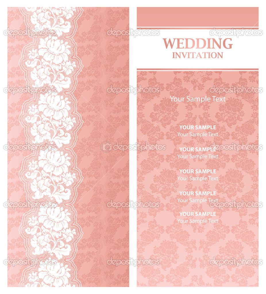 Wedding Invitation Cards Template