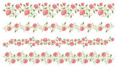 Set of roses borders — Stock Vector