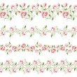 Design Elements Set flower borders — Vector de stock #6162873