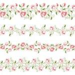 elementi di design impostano bordi fiore — Vettoriale Stock