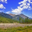 Stock Photo: Siberimountain river valley
