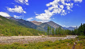 Siberian mountain river valley — Stock Photo