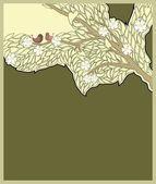 Blossom apple tree — Stock Vector