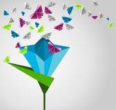 Paper butterflies. — Stock Vector