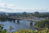 Bridge from Ottawa to Gatineau, QC — Stock Photo
