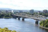 Bridge Spaning Borders — Stock Photo