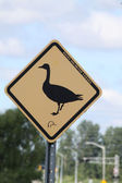 Geese Crossing Sign — Stock Photo