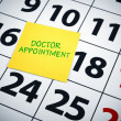 Stock Photo: Doctor appoinment