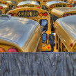 School bus parking lot — Stock Photo