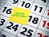 Doctor appoinment — Stock Photo