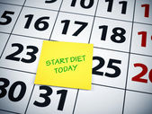 Start diet today — Stock Photo