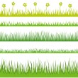Stock Vector: Grass. Horisontal seamless