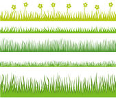 Grass. Horisontal seamless — Stock Vector