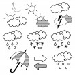 Stok Vektör: Weather symbols