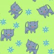 Stockvector : Cat pattern