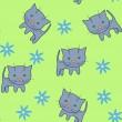 patrón de gato — Vector de stock