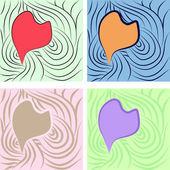 Abstract hearts — Stock Vector