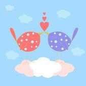 爱。鸟 — 图库矢量图片