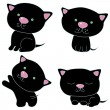 The black cats - Stock Vector