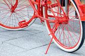 Détails de vélo rouge — Photo