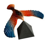 Balancing eagle toy — Stock Photo