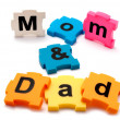Mom & Dad puzzle. — Stock Photo
