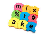 Mistake puzzle — Stock Photo