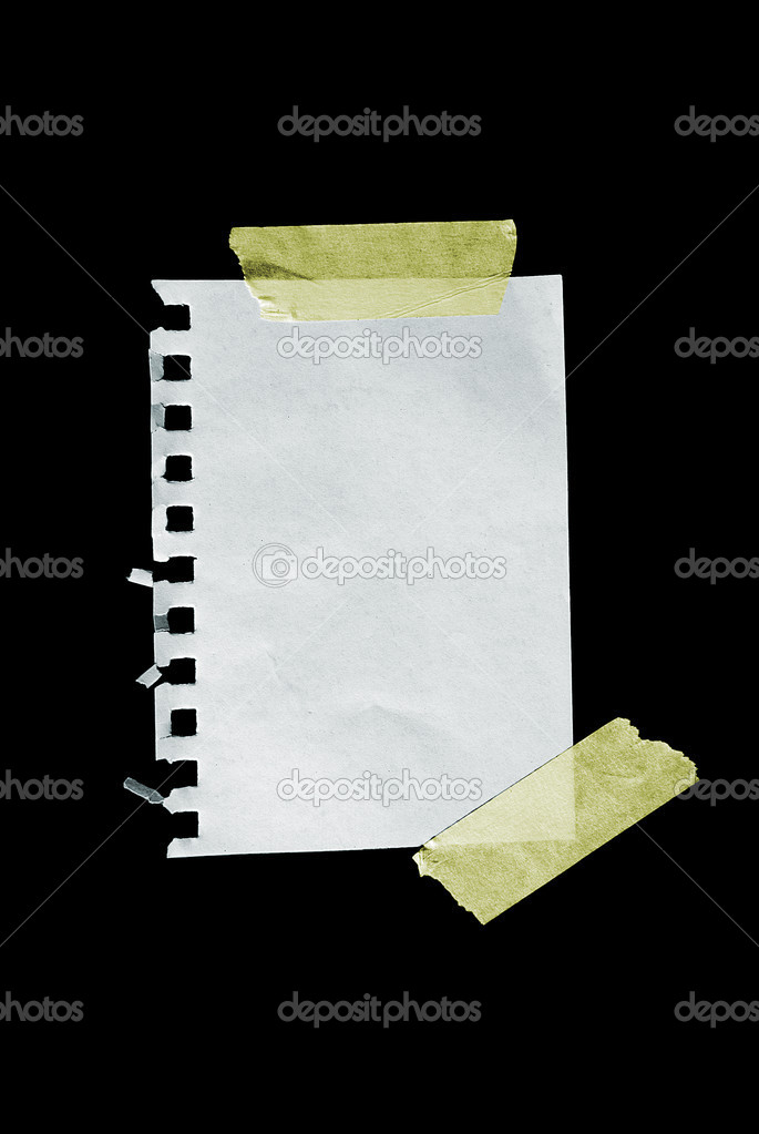 A sheet of paper isolated on black. — Stock Photo #6072134