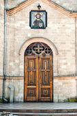 Church entrance. — Stock Photo