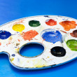 Paint palette. - Foto de Stock