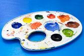 Tavolozza di vernice. — Foto Stock