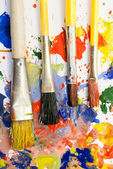 颜料、 画笔. — 图库照片