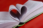 Heart-shaped pages. — Stock Photo