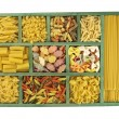 Pasta collection in box — ストック写真
