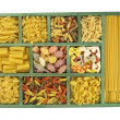 Pasta collection in box — Stock Photo