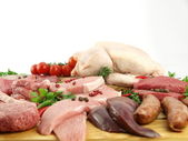 Fresh raw meat — Stock Photo