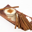 Stock Photo: Creamy rice pudding with cinnamon