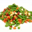 图库照片: Frozen mixed vegetables