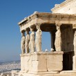 Caryatids at erechtheum of Parthenon — Stock Photo