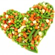 Frozen mixed vegetables — ストック写真