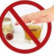 No drink sign - Stock Photo