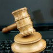 Auction gavel  and technology — Stock Photo