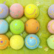 Royalty-Free Stock Photo: Easter eggs in a eggs case
