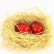Red eastern eggs — Stock Photo