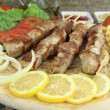 Greek souvlaki — Stock Photo