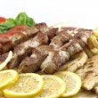 Greek skewer (souvlaki) — Stock Photo