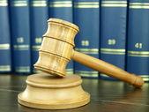 Judge?s Gavel and books — Stock Photo
