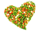 Frozen mixed vegetables — Stock Photo