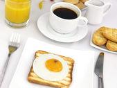 Fried egg on toast — Stock Photo